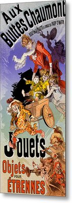 Poster For Aux Buttes Chaumont Toy Metal Print by Jules Cheret