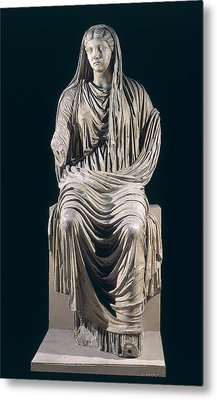 Posthumous Statue Of Livia Metal Print by Roman School