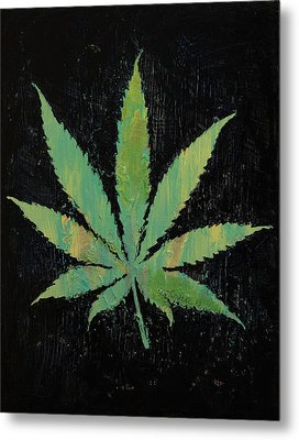 Pot Leaf Metal Print by Michael Creese