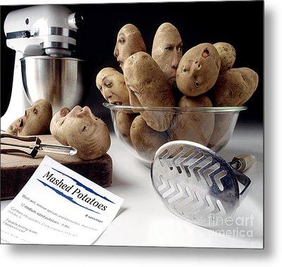 Potato Panic Metal Print by Dick Smolinski