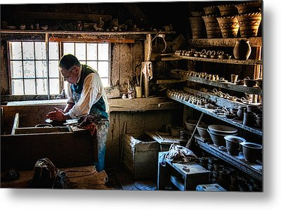 Potters Shed Metal Print by Scott Thorp