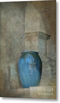 Pottery And Archways II Metal Print by Sandra Bronstein