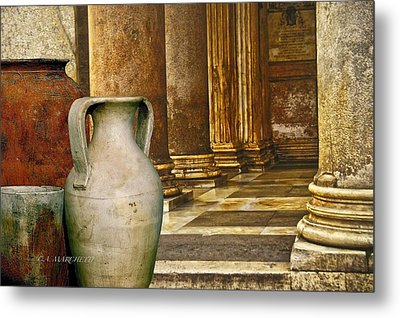 Pottery From Another Time  Metal Print by Carolyn Marchetti