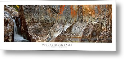 Poudre River Falls Fort Collins Metal Print by Posters of Colorado