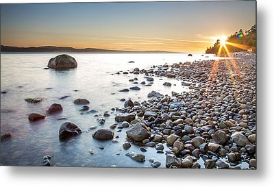 Powell River Sunset Metal Print by Pierre Leclerc Photography