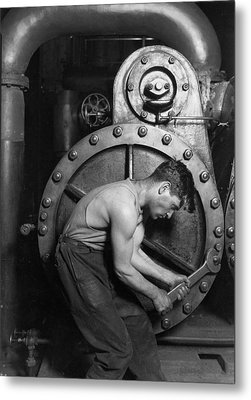 Power House Mechanic 1920 Metal Print by Mountain Dreams
