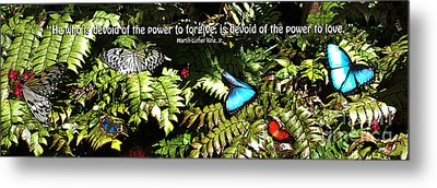 Power To Love Metal Print by Diane E Berry