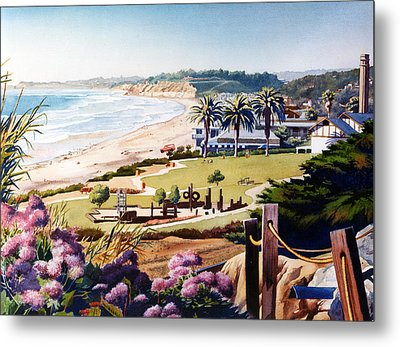 Powerhouse Beach Del Mar Lilac Metal Print by Mary Helmreich