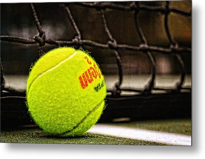 Practice - Tennis Ball By William Patrick And Sharon Cummings Metal Print by Sharon Cummings