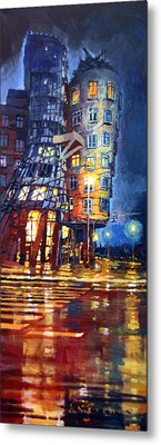 Prague Dancing House  Metal Print by Yuriy Shevchuk