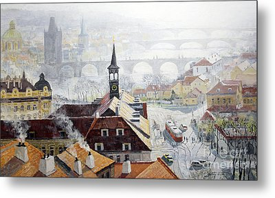 Praha Early Spring  Metal Print by Yuriy Shevchuk