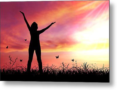 Praise The Lord Metal Print by Aged Pixel