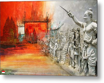 Prambanan Temple Compounds Metal Print by Ctaf