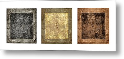 Prayer Flag Triptych Series Two Metal Print by Carol Leigh