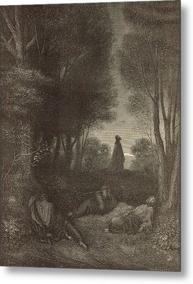 Prayer Of Jesus In The Garden Of Olives Metal Print by Antique Engravings