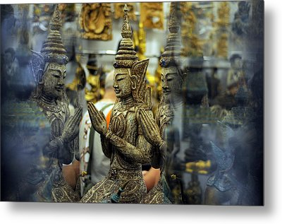 Prayer Reflection Metal Print by Money Sharma