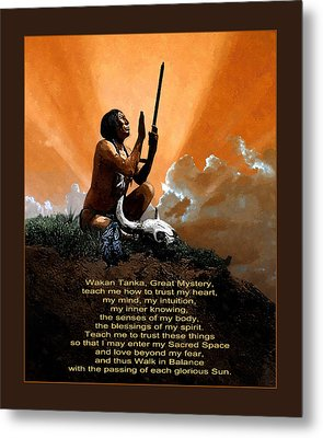 Prayer To The Great Mystery Poster Metal Print by Rick Mosher