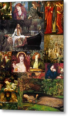 Pre Raphaelite Collage Metal Print by Philip Ralley