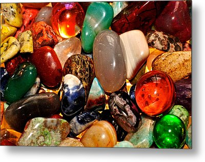 Precious Stones Metal Print by Frozen in Time Fine Art Photography