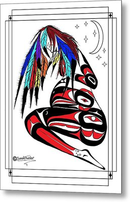 Prego Feathers Metal Print by Speakthunder Berry
