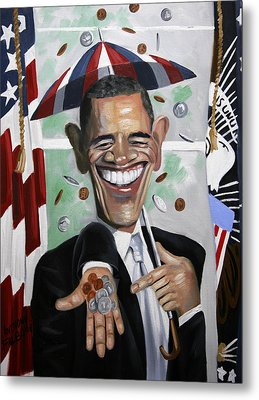 President Barock Obama Change Metal Print by Anthony Falbo