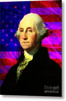 President George Washington V2 M123 Metal Print by Wingsdomain Art and Photography