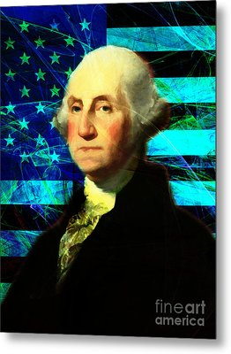 President George Washington V2 P138 Metal Print by Wingsdomain Art and Photography