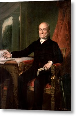 President John Quincy Adams  Metal Print by War Is Hell Store