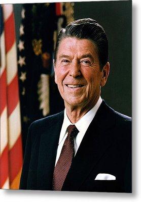 President Ronald Reagan Metal Print by Mountain Dreams