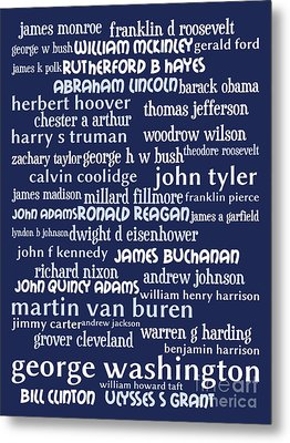 Presidents Of The United States 20130625bwco80 Metal Print by Wingsdomain Art and Photography