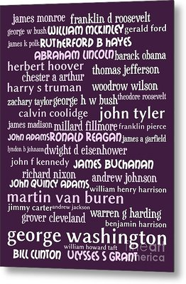 Presidents Of The United States 20130625bwmag Metal Print by Wingsdomain Art and Photography