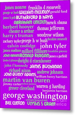 Presidents Of The United States 20130625p60 Metal Print by Wingsdomain Art and Photography