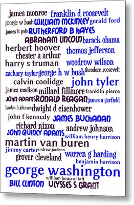 Presidents Of The United States 20130625whi Metal Print by Wingsdomain Art and Photography