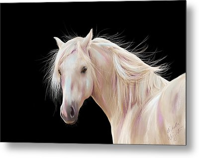Pretty Palomino Pony Painting Metal Print by Michelle Wrighton