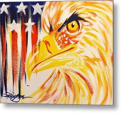 Primary Eagle Metal Print by Darren Robinson