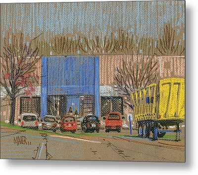 Primary Loading Docks Metal Print by Donald Maier