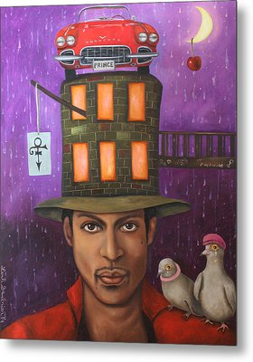 Prince Metal Print by Leah Saulnier The Painting Maniac