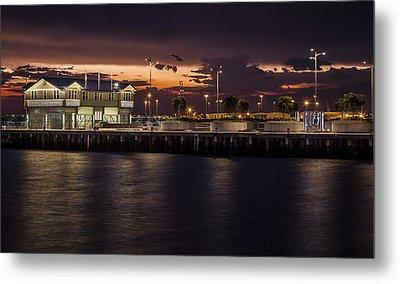 Princes Pier Gateway Metal Print by Shari Mattox