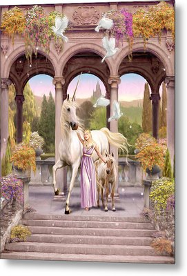 Princess Of The Unicorns Variant 1 Metal Print by Garry Walton