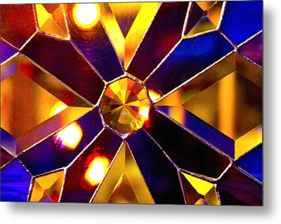 Prism Glass Spectrum Metal Print by Karon Melillo DeVega