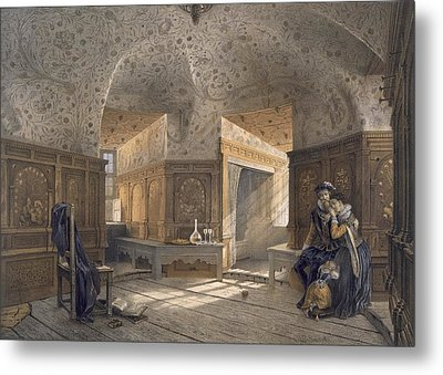 Prison Of King Erik Xiv, Son Of Gustav Metal Print by Karl Johann Billmark