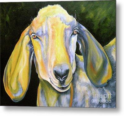 Prize Nubian Goat Metal Print by Susan A Becker