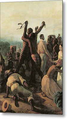 Proclamation Of The Abolition Of Slavery In The French Colonies, 23rd April 1848 Metal Print by Francois Auguste Biard