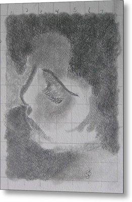Profile Of A Woman Metal Print by AJ Brown