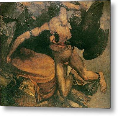 Prometheus Oil On Canvas Metal Print by Francisco Jose de Goya y Lucientes
