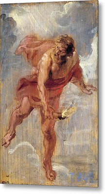 Prometheus Metal Print by Peter Paul Rubens