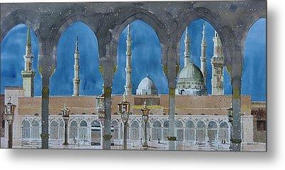 Prophet's Mosque Medina Metal Print by Martin Giesen