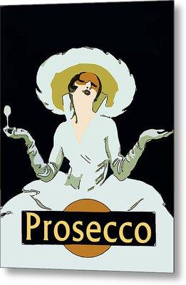 Prosecco Metal Print by Fig Street Studio