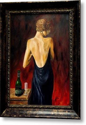 Prosecco Nights Framed Metal Print by Gino Didio