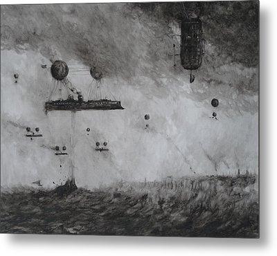 Protected Fishing Fleet Off The London Shoals Metal Print by Steve Allender